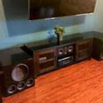 sub woofer home theater set up